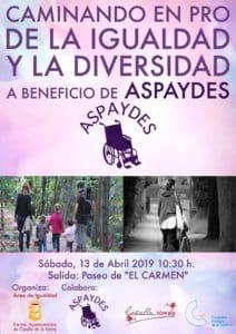 Caminando en pro de la Igualdad y la Diversidad a Beneficio de Aspaydes @ Paseo del Carmen