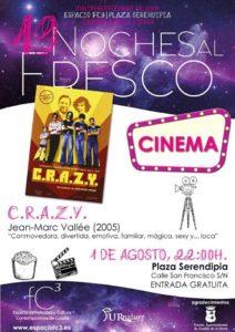 """NOCHES AL FRESCO. CINE """"C.R.A.Z.Y"""", de  Jean Marc Vallée. @ Plaza Serendipia - Centro del Aguardiente de Cazalla"""