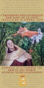 """V ENCUENTRO POÉTICO /MUSICAL """"SAN JUAN DE LA CRUZ"""" @ Ermita Nuestra Señora del Monte"""
